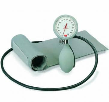 boso K1 Mechanical Blood Pressure Device with Velcro Cuff and Case gray