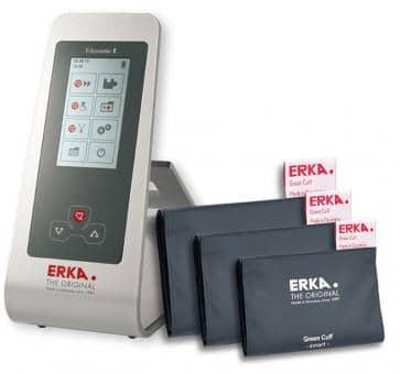 ERKA Erkameter E Upper Arm Blood Pressure Monitor, Green Cuff Smart Rapid Set