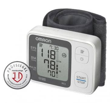 Return OMRON RS3 (HEM-6130-D) wrist blood pressure monitor