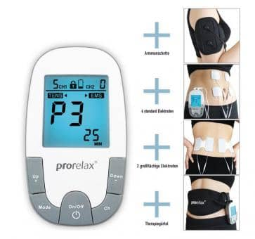 Return prorelax 85835 TENS + EMS Super Duo Plus