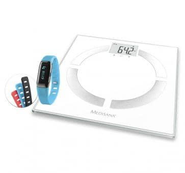 Medisana Offer BS 444 connect Diagnostic Scale + ViFit connect MX3 Activity Tracker