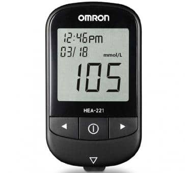 OMRON HEA-221 Blood Glucose Monitoring Kit mmol/L