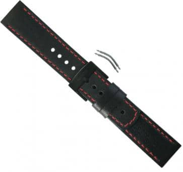 Suunto Elementum Terra Black/Red Leather Strap Kit