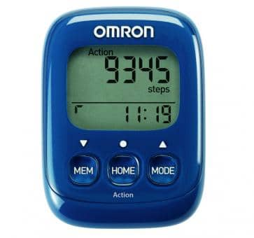 Return OMRON Walking Style IV Step Counter blue